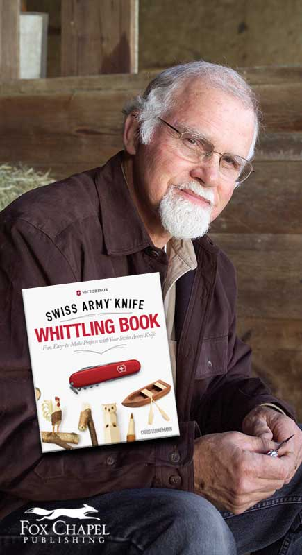Author and master wood carver Chris Lubkemann