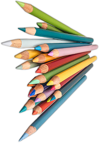Cluster of Colored Pencils