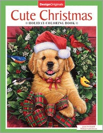 Cute Christmas Adult Coloring Book