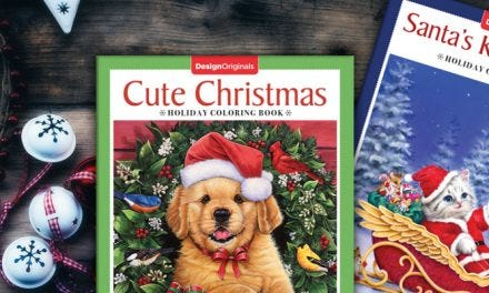 Two New Christmas Coloring Books