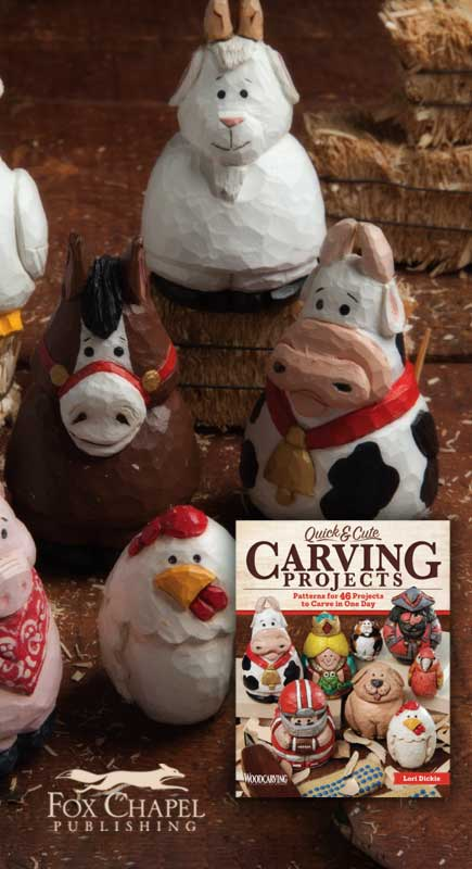 Author Lori Dickie Quick & Cute Carving Projects Book