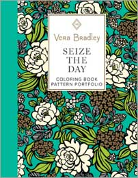 Vera Bradley Seize the Day Coloring Book Pattern Portfolio