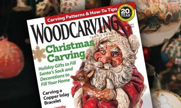 Carving a Santa Shelf Sitter