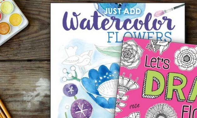 Drawing Watercoloring and Hand-lettering Books
