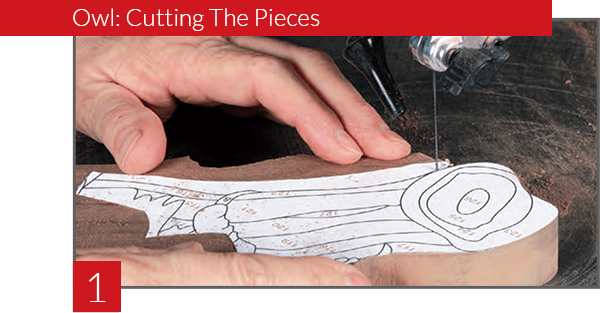 Owl Scroll Saw Pattern Step 02 - Cutting the pieces.