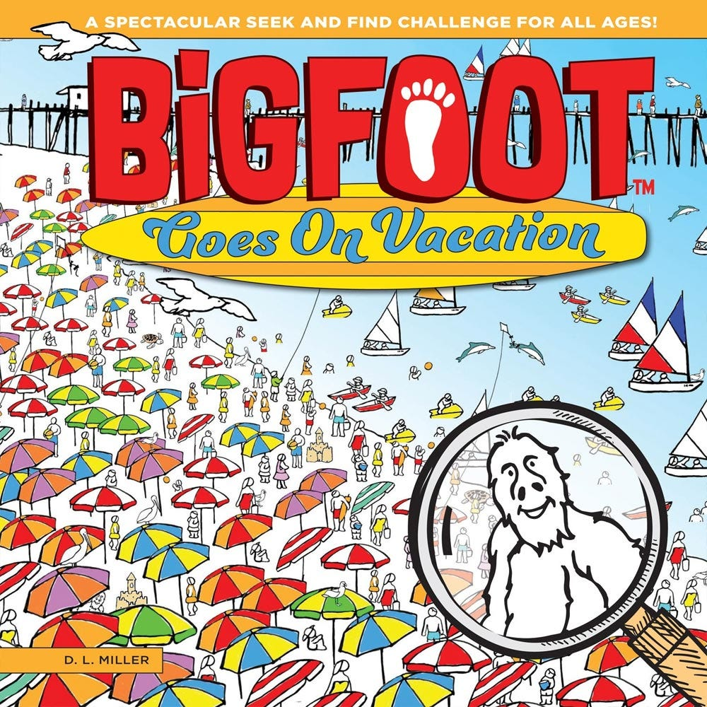 BigFoot Goes On Vacation - BigFoot Sighting on the beach.