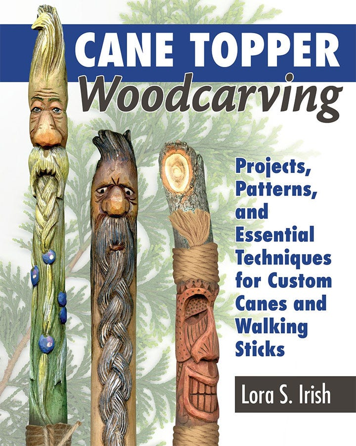 Cane Topper Woodcarving - Wood Carving Book