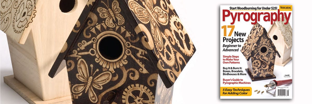 Wood Burning a Butterfly Birdhouse