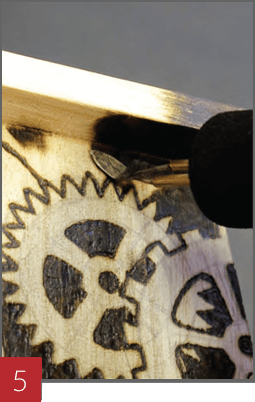 Wood Burning a Birdhouse - Step 05