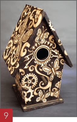 Wood Burning a Birdhouse - Step 09
