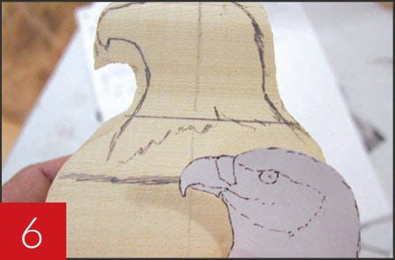 Wooden Eagle Carving - Step 06