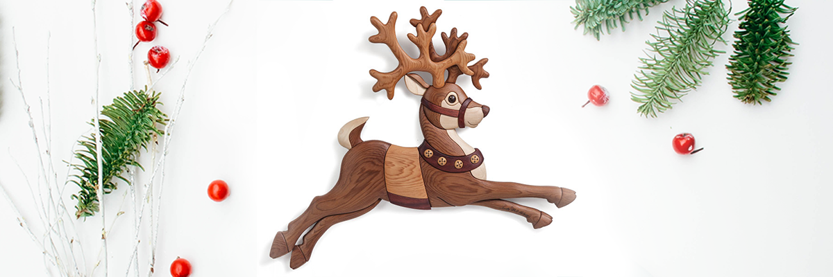 Free Reindeer Scroll Saw Intarsia Pattern