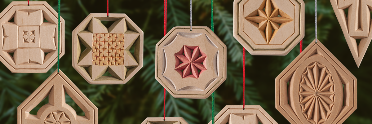 Chip Carved See-Through Ornaments