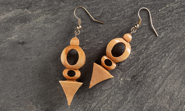 Scroll Saw Compound Cut Earrings