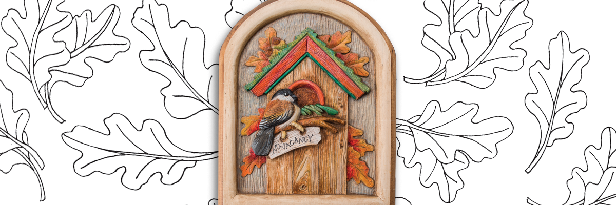 Free Wood Carving Design: Fall Birdhouse Pattern