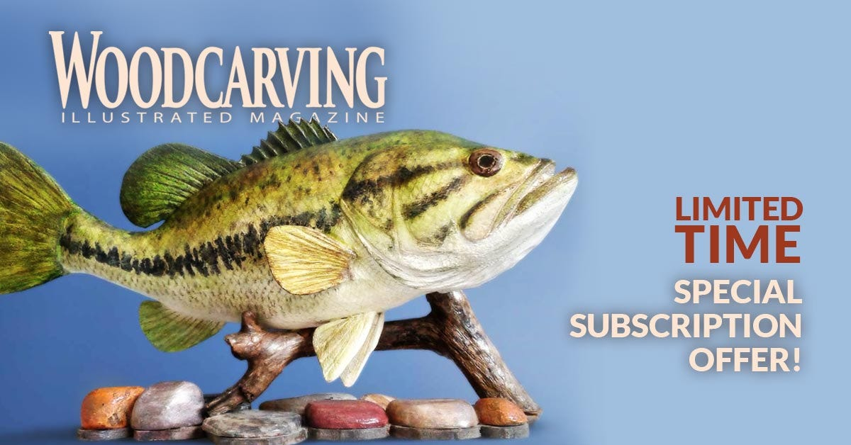 Wood Carving Illustrated Subscription One Year - Subscribe TOday & Doenload 2 Free Booklets
