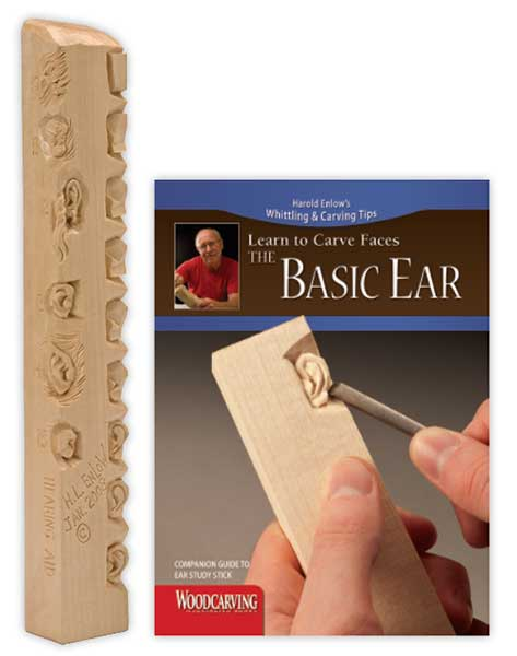 Wood Carving Study Stick - Basic Ear