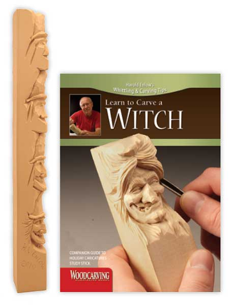 Wood Carving Study Stick - Carve a Witch
