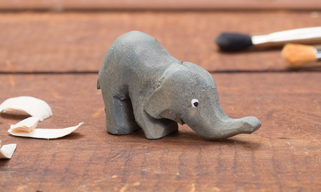 Whittling A Wood Elephant