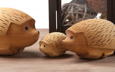 Wood Carving a Hedgehog from a Basswood Egg