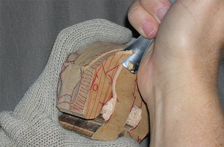 Wood Carving a Fish - Step 02
