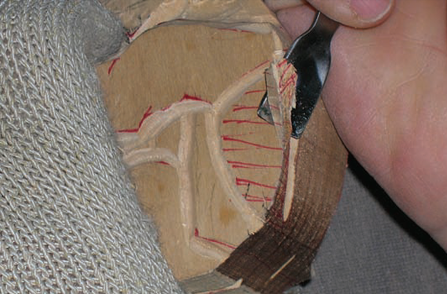 Wood Carving a Fish - Step 04