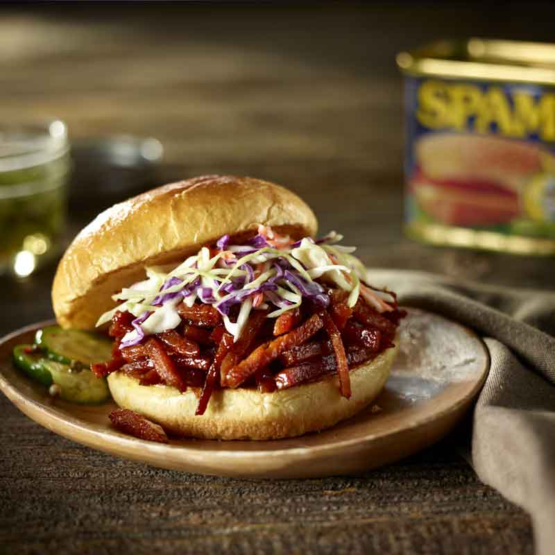SPAM-Pulled BBQ Sandwich