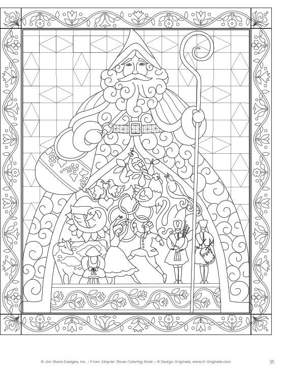 Simpler Time Coloring Book Page 35