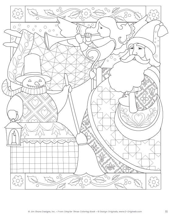 Simpler Time Coloring Book Page 55