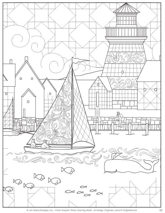Simpler Time Coloring Book Page 59