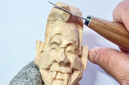 Wood Carving a Fish - Step 03