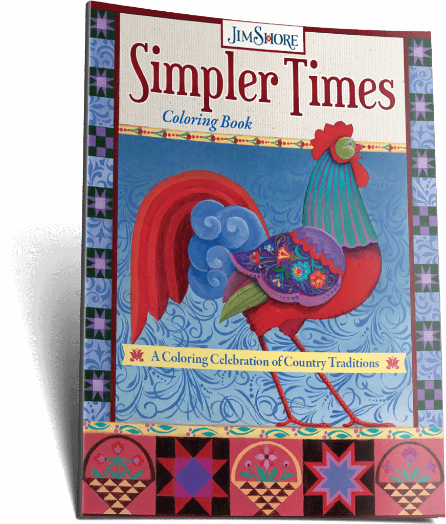 Simpler Times Coloring Book by Jim Shore
