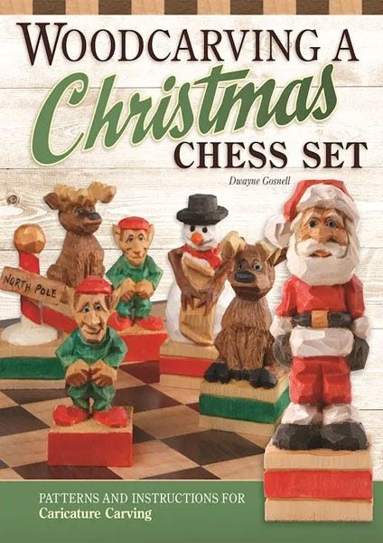 Woodcarving a Christmas Chess Set by Dwayne Gosnell