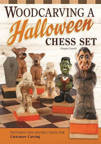 Woodcarving a Halloween Chess Set by Dwayne Gosnell