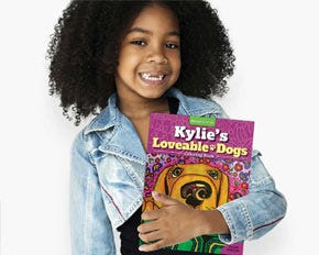Personalized Loveable Dogs Coloring Book