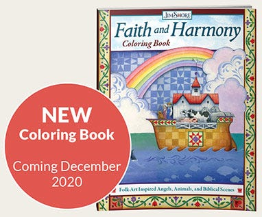 Faith and Harmony Coloring Book by Jim Shore