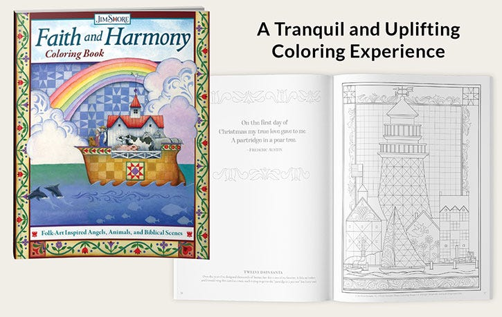 Faith and Harmony Coloring Book - A Tranquil and Uplifting Coloring Experience