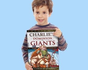 Personalized Dominion Giants Coloring Book