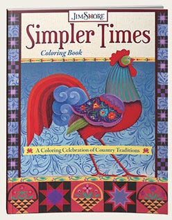 Simpler Times Coloring Book