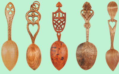 Free Romantic Spoon Carving Pattern