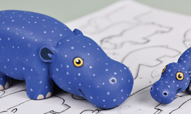 Wood Carving Pattern: Tiny Hippo
